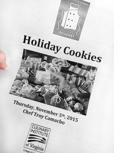 Holiday cookie baking class