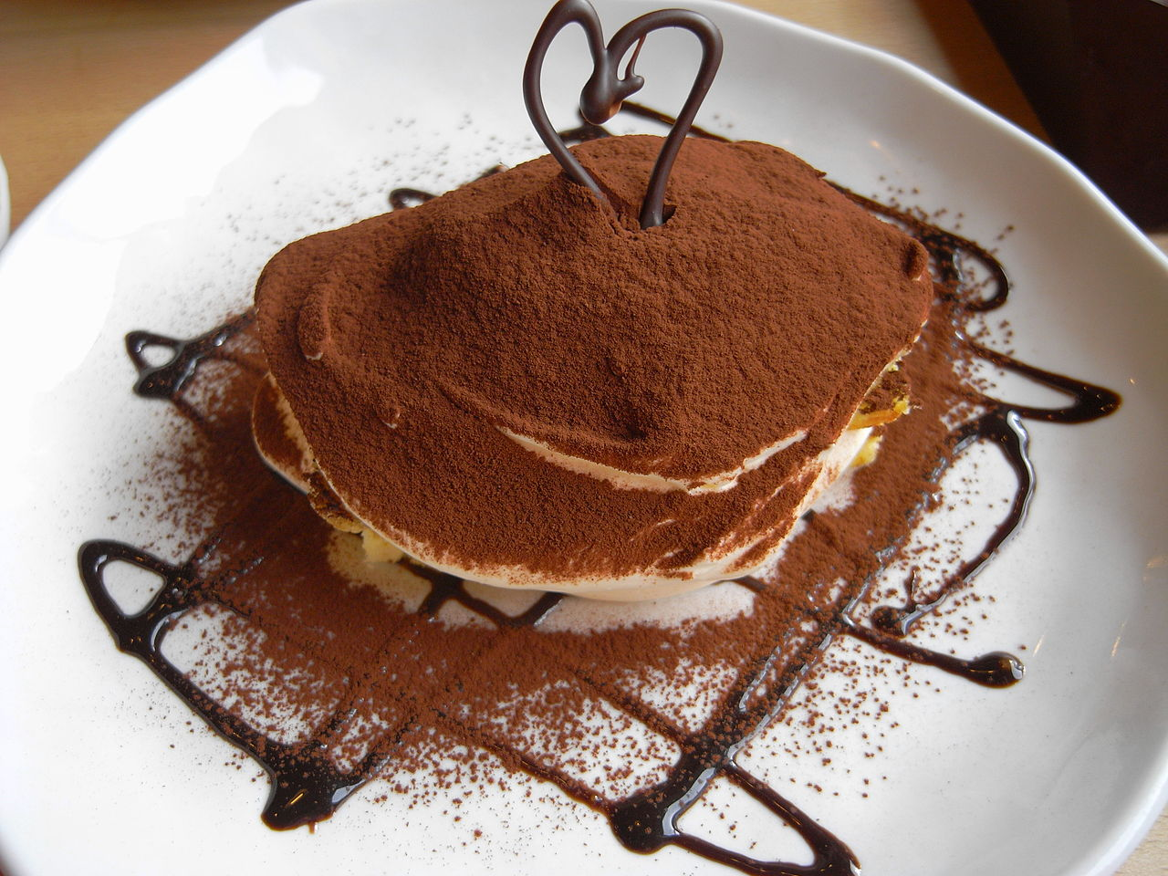 tiramisu with cocoa powder